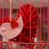 Cage suspendue, avec coeur enfermé