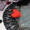Table St Valentin en rouge et noir