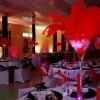Centre de table cabaret plumes