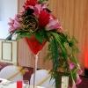 Centre de table fleurs exotiques