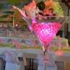 Vase martini lumineux