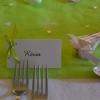 Marque-place sur étiquette et ruban