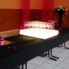 Vue du buffet Présentoir lumineux, pour les flutes