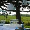 Présentoir lumineux pour flutes à champagne