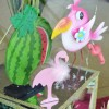 Flamands-rose-et-ananas