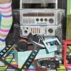 Détail vitrines Kodak, années 80, Converses