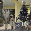 Noël en bleu argenté