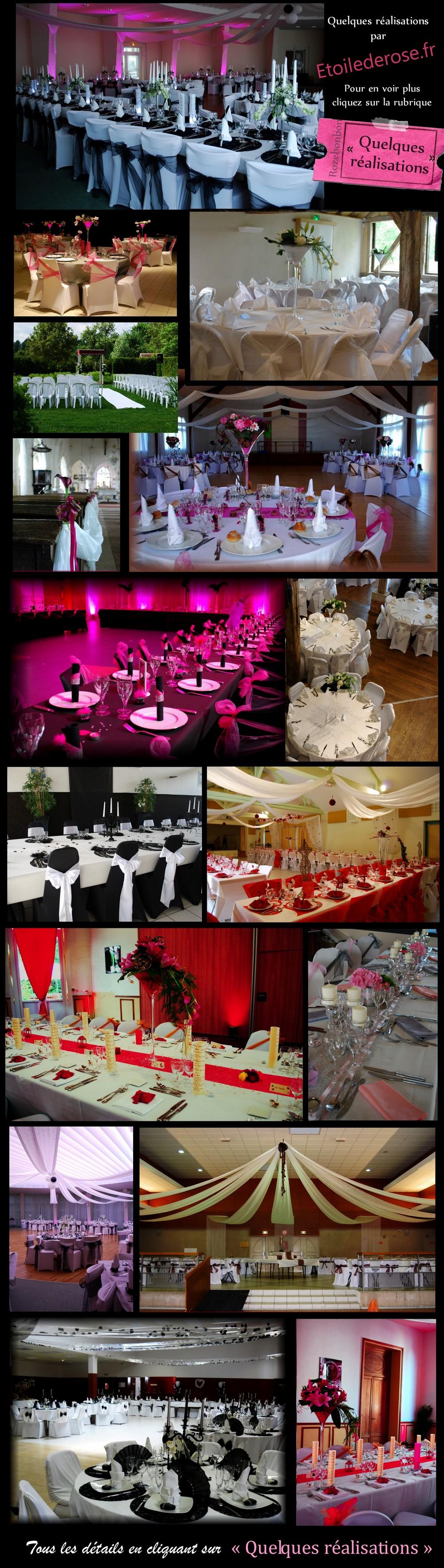 Décoration de mariage en Champagne Ardenne, Yonne, Marne, Aube
