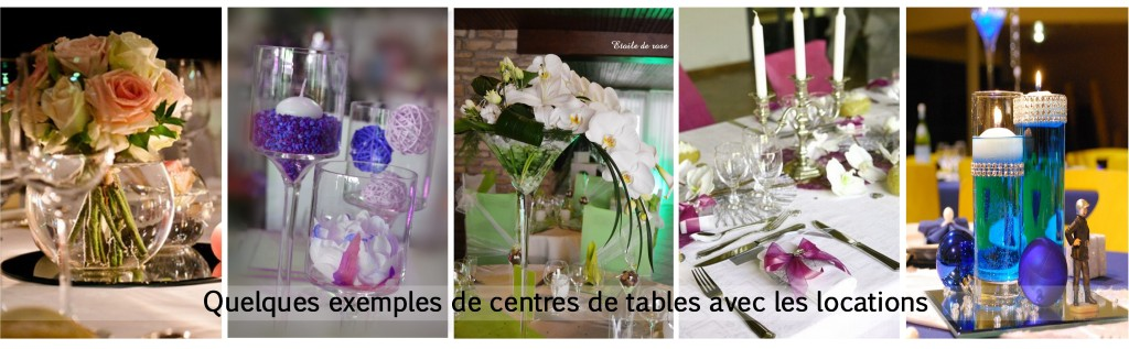 exemples de centres de tables