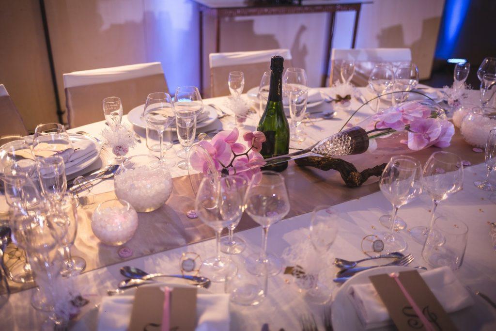 centre de table thème Champagne