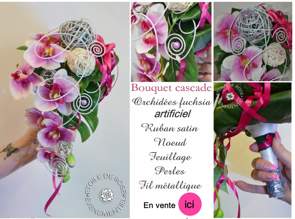 Mariage Fuchsia Gris Blanc Etoile De Rose