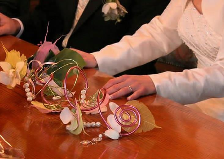 Bouquet bracelet, de mariée