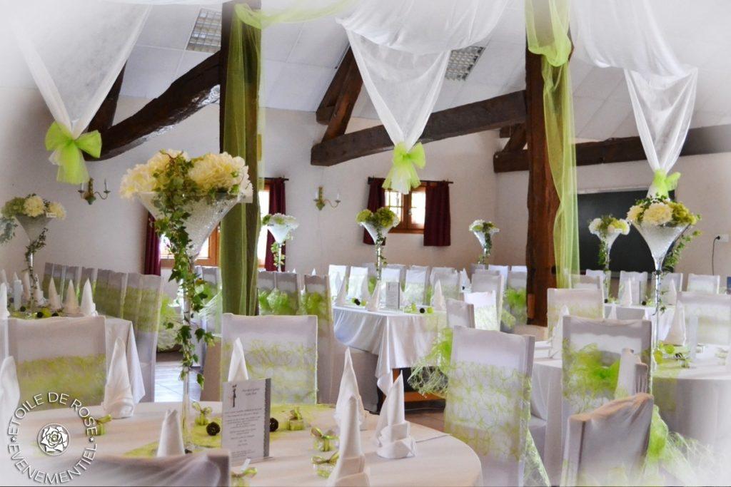 Mariage vert et blanc àa la Ferme du Vieux Château