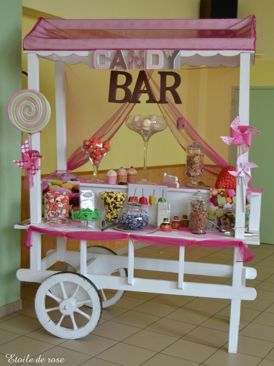 Candy bar thème gourmandises d'antan