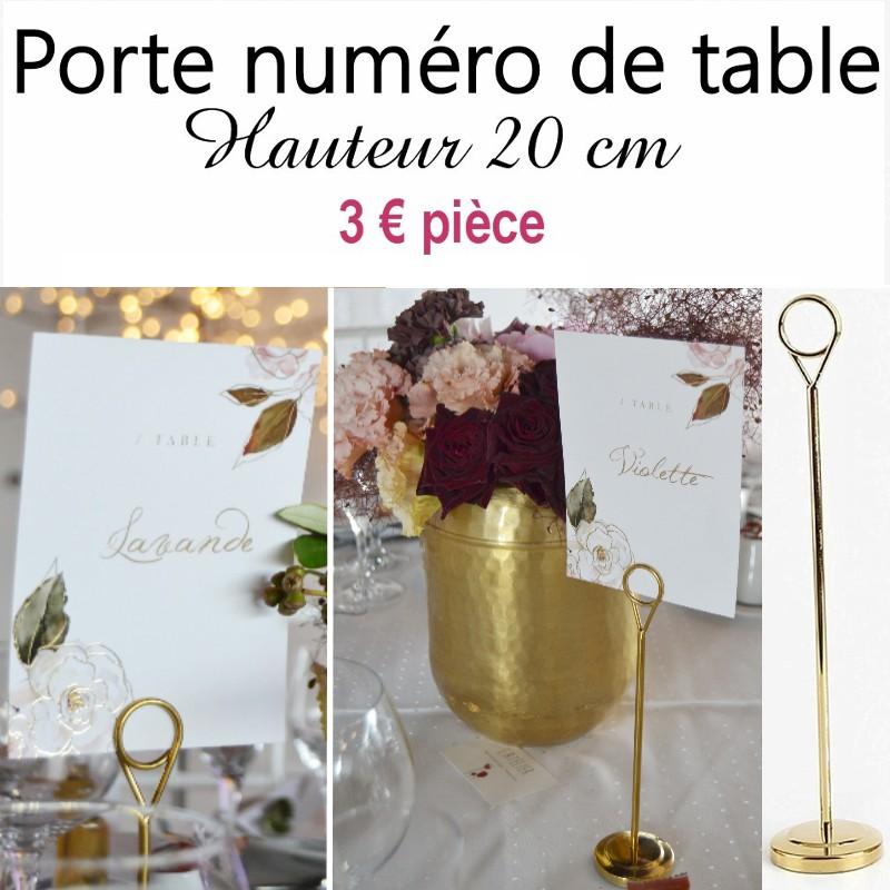 Porte numéro de table