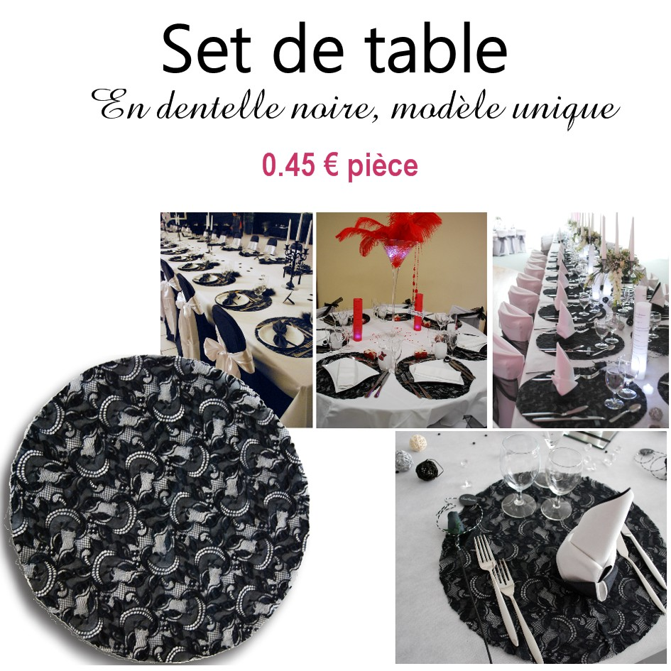 Set de table en dentelle