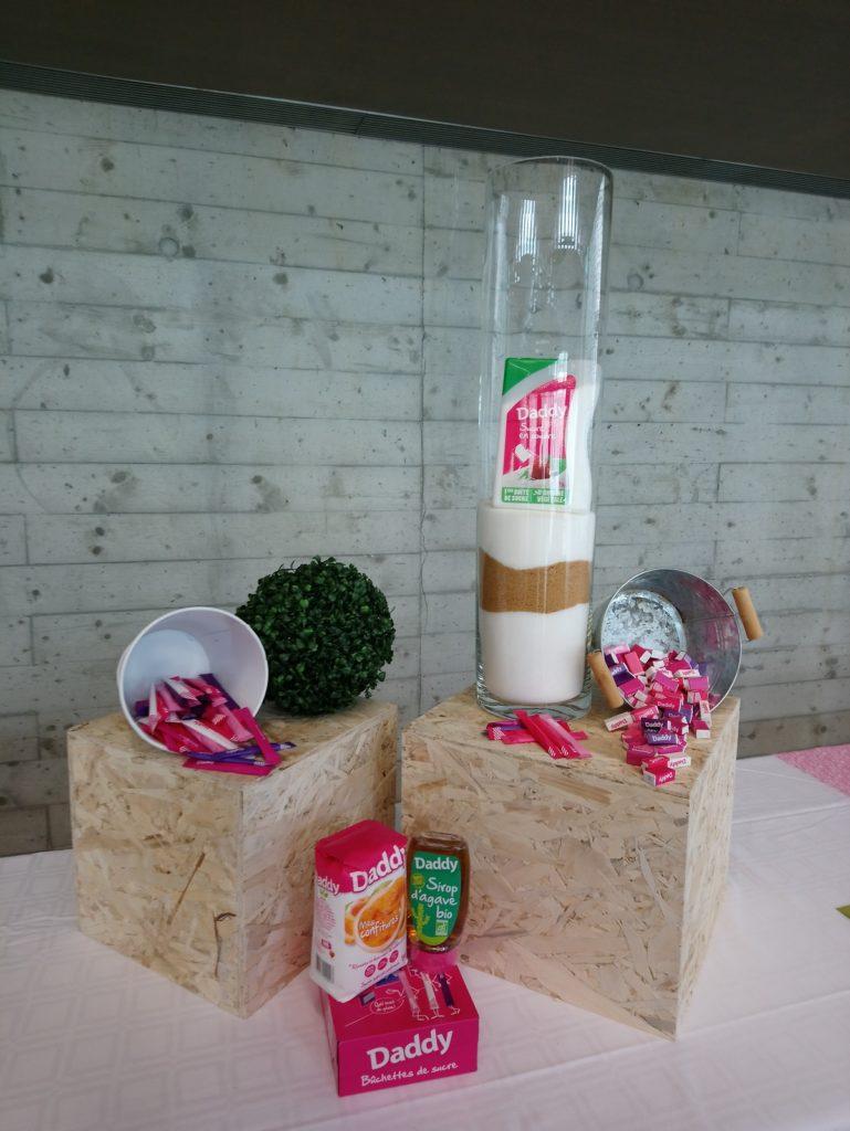 Décoration de buffet, thème sucre