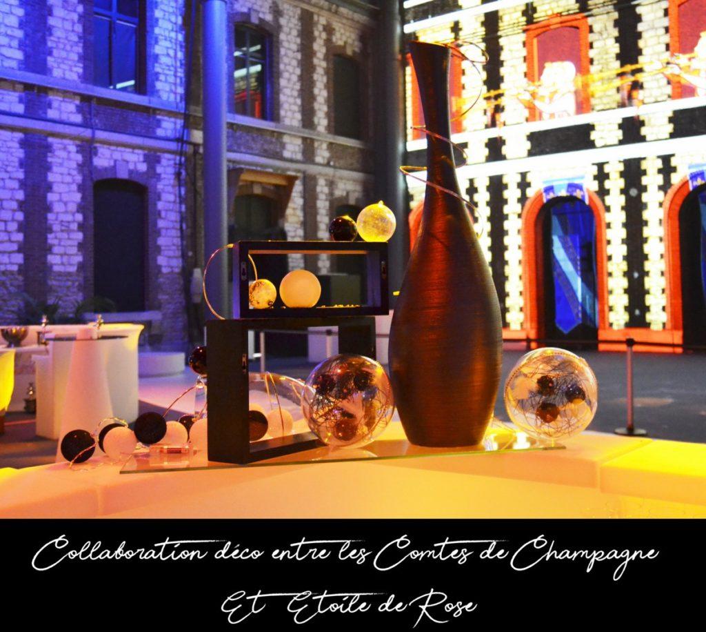 Décoration de pôles traiteurs, thème Bulles et Champagne