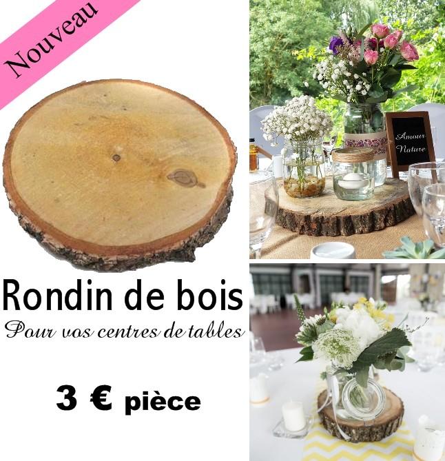 Rondin de bois pour table
